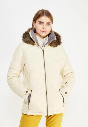 Куртка горнолыжная Roxy. Цвет: бежевый