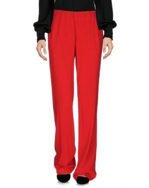 Повседневные брюки DONNA KARAN. Цвет: красный