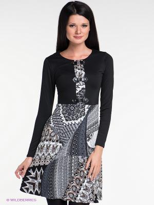 Платье Наталья Новикова. Цвет: черный, серый, коричневый, белый