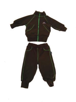 Комплект ЛисФлис. Цвет: коричневый, зеленый