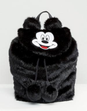 Lazy Oaf Рюкзак из искусственного меха с Микки Маусом Disney x. Цвет: черный