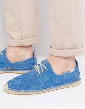 Soludos Эспадрильи со шнуровкой. Цвет: синий