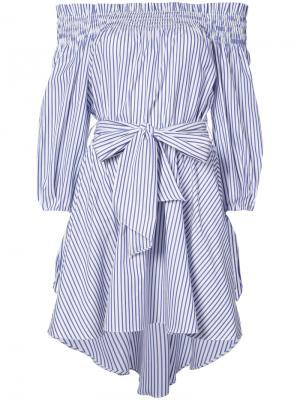 Платье Lou Caroline Constas. Цвет: синий