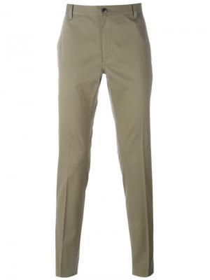 Классические брюки чинос John Varvatos. Цвет: зелёный