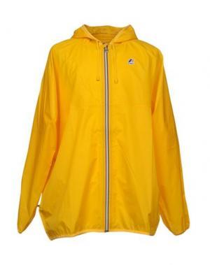 Легкое пальто K-WAY. Цвет: желтый