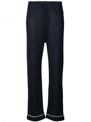Свободные брюки в пижамном стиле The Elder Statesman. Цвет: синий