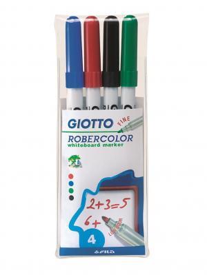 Giotto robecolor whiteboard fine набор маркеров для белой доски 4шт в бл. FILA. Цвет: белый, красный, синий