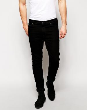 ASOS Черные джинсы скинни. Цвет: черный