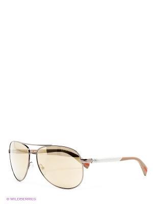 Очки солнцезащитные Prada Linea Rossa. Цвет: бронзовый, черный