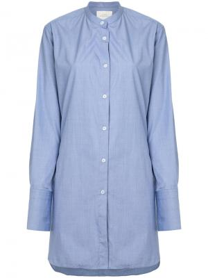 Рубашка модели оверсайз Studio Nicholson. Цвет: синий