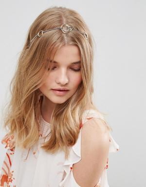 ASOS Металлический обруч для волос. Цвет: мульти