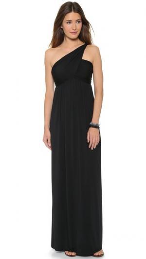 Платье с открытым плечом Twist Rachel Pally. Цвет: голубой