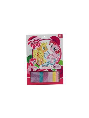 Набор для творчества  фигурная мозаика со стразами, my little pony Играем вместе. Цвет: розовый