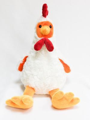 Мягкая игрушка Петушок золотой гребешок 28.45.1 цвет белый Malvina. Цвет: белый