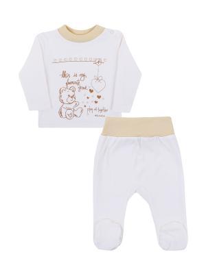 Комплект одежды: кофточка, ползунки Коллекция Медвежата КОТМАРКОТ. Цвет: бежевый