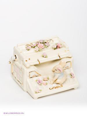 Музыкальная фигурка Печатная машина Pavone. Цвет: молочный, бледно-розовый