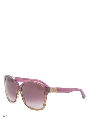 Солнцезащитные очки TO 0089 83T Tod's. Цвет: сиреневый, коричневый