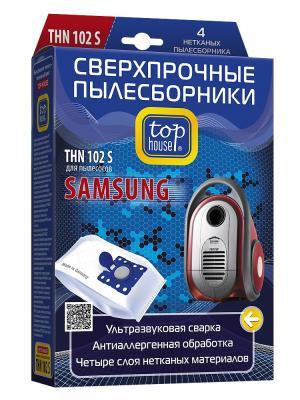 Top house THN 102 S Сверхпрочные нетканые пылесборники 4 шт. Цвет: синий