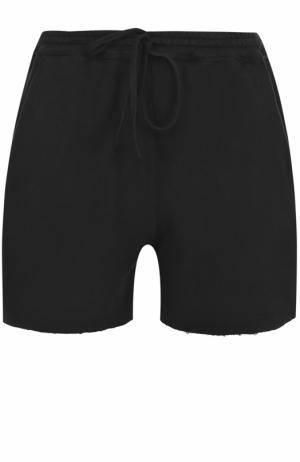 Хлопковые мини-шорты с карманами Roque. Цвет: черный