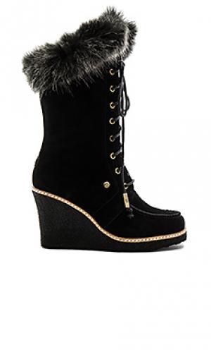 Mandinka boot with faux fur cuff Australia Luxe Collective. Цвет: черный