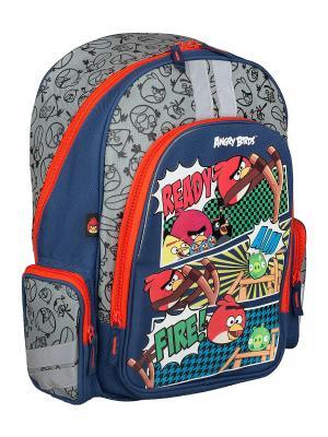 Рюкзак с эргономичной EVA-спинкой. Angry Birds. Цвет: красный, синий, серый