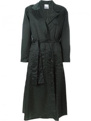 Пальто с поясом Arthur Arbesser. Цвет: зелёный