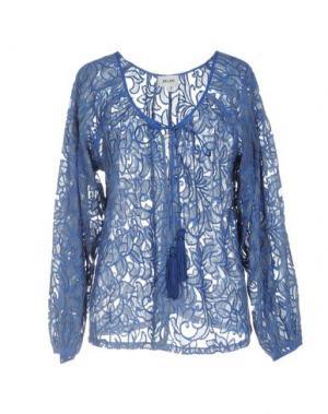 Блузка BELAIR. Цвет: синий