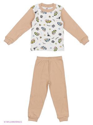 Пижама Хох. Цвет: кремовый, светло-серый