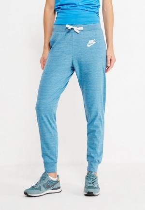 Брюки спортивные Nike. Цвет: голубой