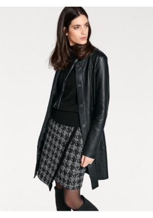 Кожаное пальто RICK CARDONA by Heine. Цвет: черный