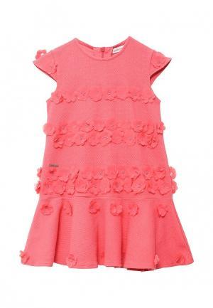 Платье Boboli. Цвет: коралловый