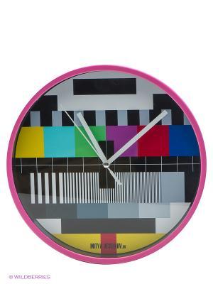 Часы настенные ТВ-сетка (22 см, розовый) Арт. MV-NAST63 Mitya Veselkov. Цвет: розовый