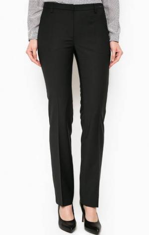 Черные брюки прямого кроя Cinque. Цвет: черный