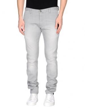 Джинсовые брюки ALV ANDARE LONTANO VIAGGIANDO. Цвет: серый