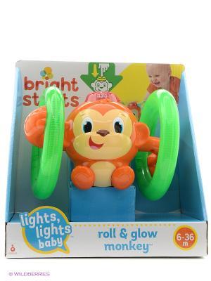 Развивающая игрушка Обезьянка на кольцах BRIGHT STARTS. Цвет: коричневый