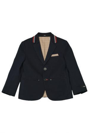 Пиджак Hugo Boss. Цвет: синий