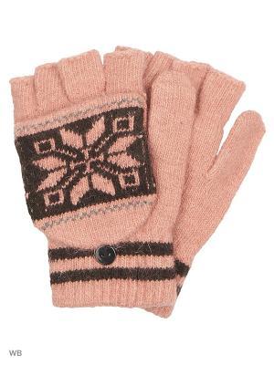 Перчатки-варежки Punta. Цвет: розовый