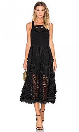 Платье OLCAY GULSEN. Цвет: черный