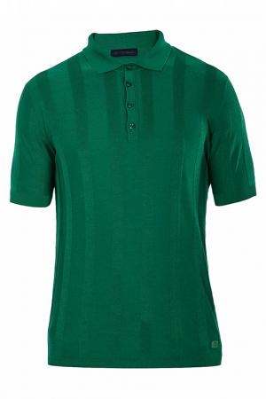 Поло Trussardi Jeans. Цвет: зеленый