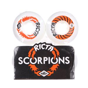 Колеса для скейтборда  Scorpions White/Orange 81B 55 mm Ricta. Цвет: белый,оранжевый