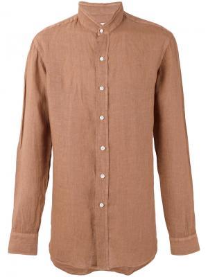 Рубашка с воротником-стойкой Salvatore Piccolo. Цвет: коричневый