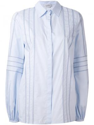 Рубашка в полоску Gabriela Hearst. Цвет: синий