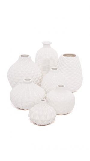 Комплект из семи ваз для бутонов Artisan Carvings Gift Boutique