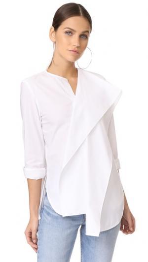 Рубашка с оборками Edition10. Цвет: белый