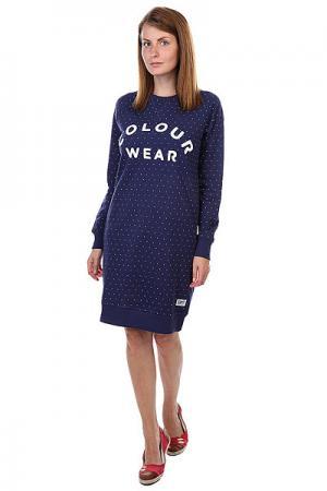 Платье женское  Crew Dress Florida Patriot Dot CLWR. Цвет: синий