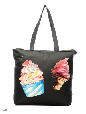 Пляжная сумка Modis. Цвет: голубой, белый, синий