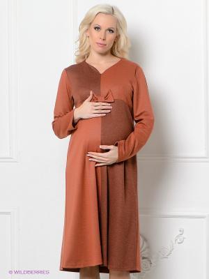 Платье Livaa. Цвет: терракотовый