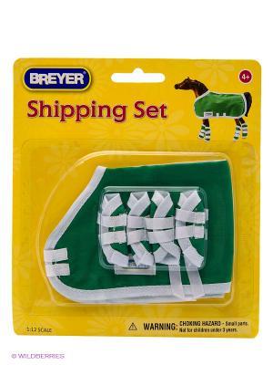 Попоны и ногавки для защиты лошади в ассортименте. Breyer. Цвет: голубой, зеленый