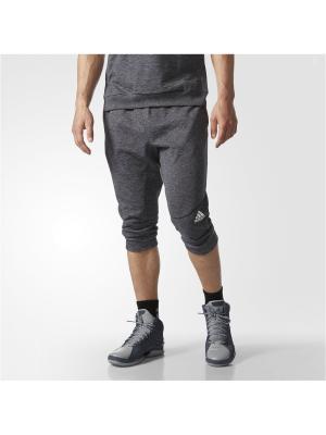 Трикотажные бриджи муж. CROSS-UP 3/4 PA Adidas. Цвет: темно-серый