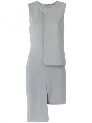 Асимметричное платье Gloria Coelho. Цвет: серый